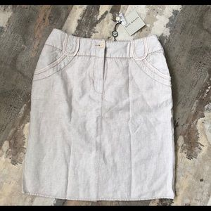 NWT blue willii's 100% linen natural dyed skirt 36